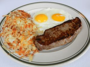 NY Strip Steak & Eggs