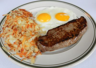 NY Strip Steak & Eggs