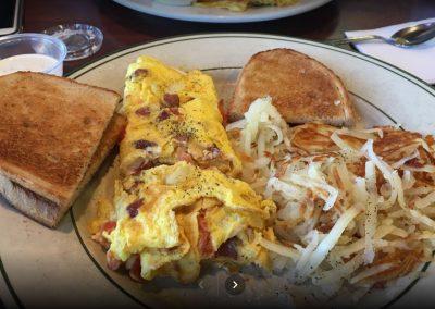 Breakfast Bacon Omelette