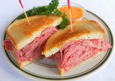 Corned Beef Sandwich Red Olive Restaurant