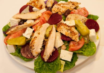 Chicken Greek Salad Red Olive Restaurant