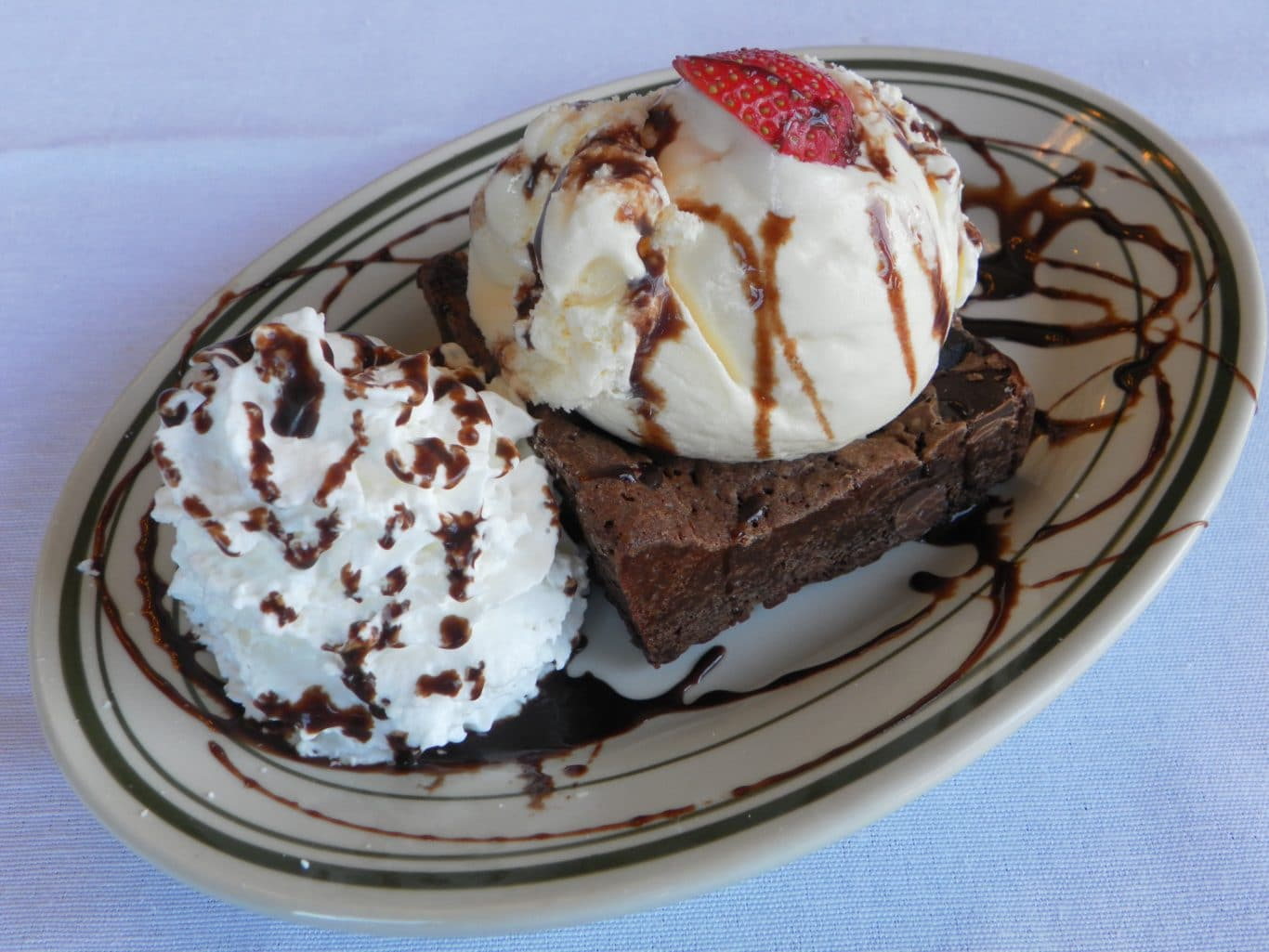 Chocolate Brownie Sundae