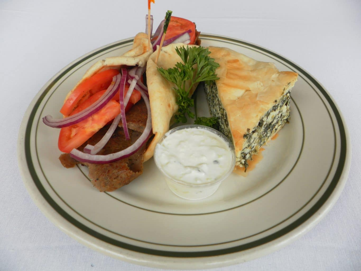 Gyro & Spinach Pie combo