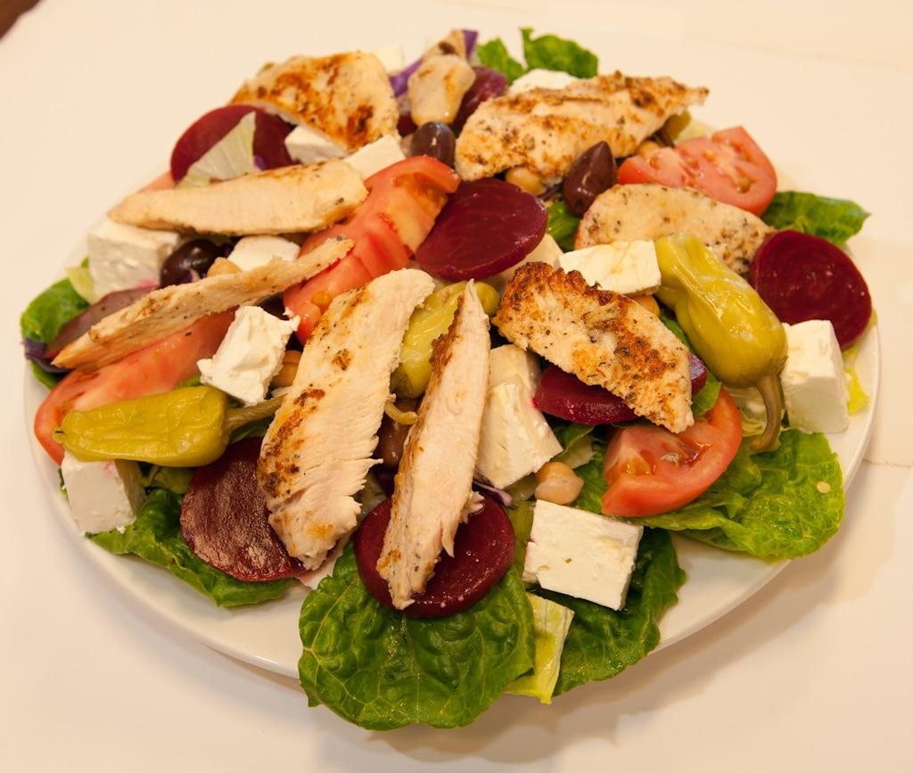 Chicken Greek Salad Red Olive Restaurant
