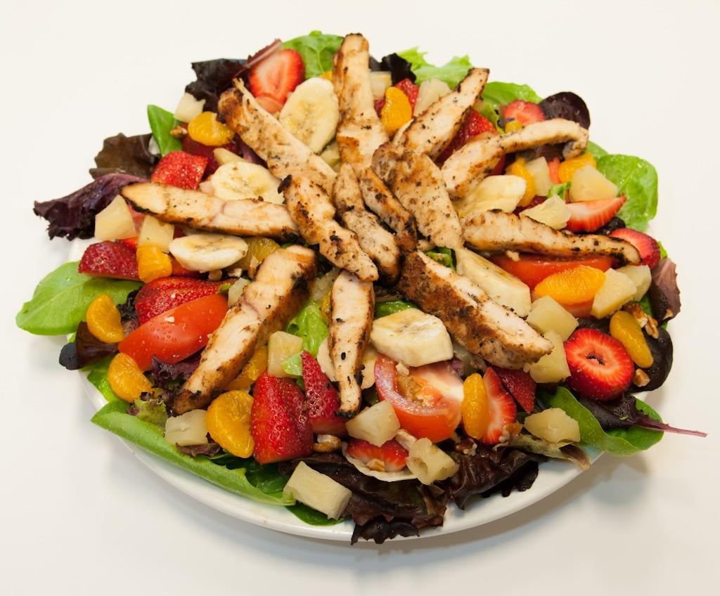 Chicken Fruit Salad Red Olive Restaurant